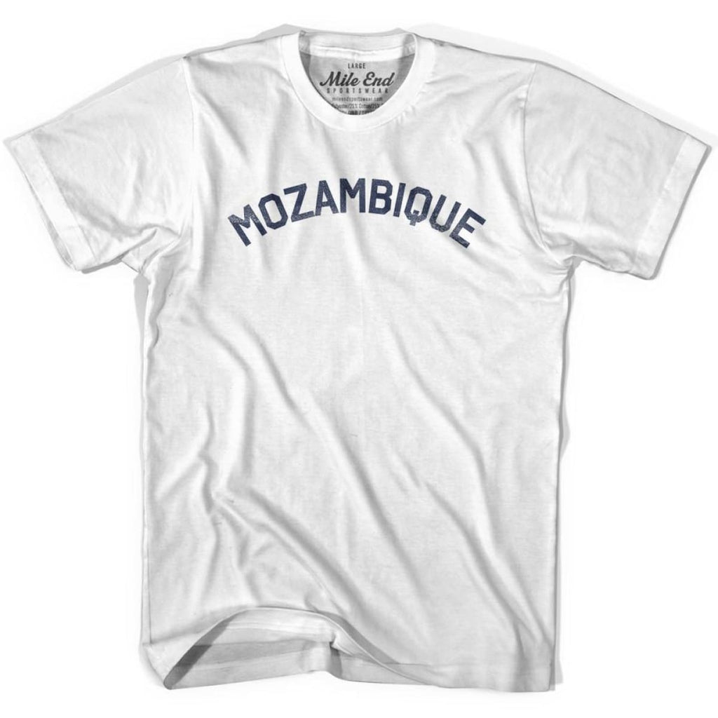 Mozambique City Vintage T-shirt - White / Youth X-Small - Mile End City