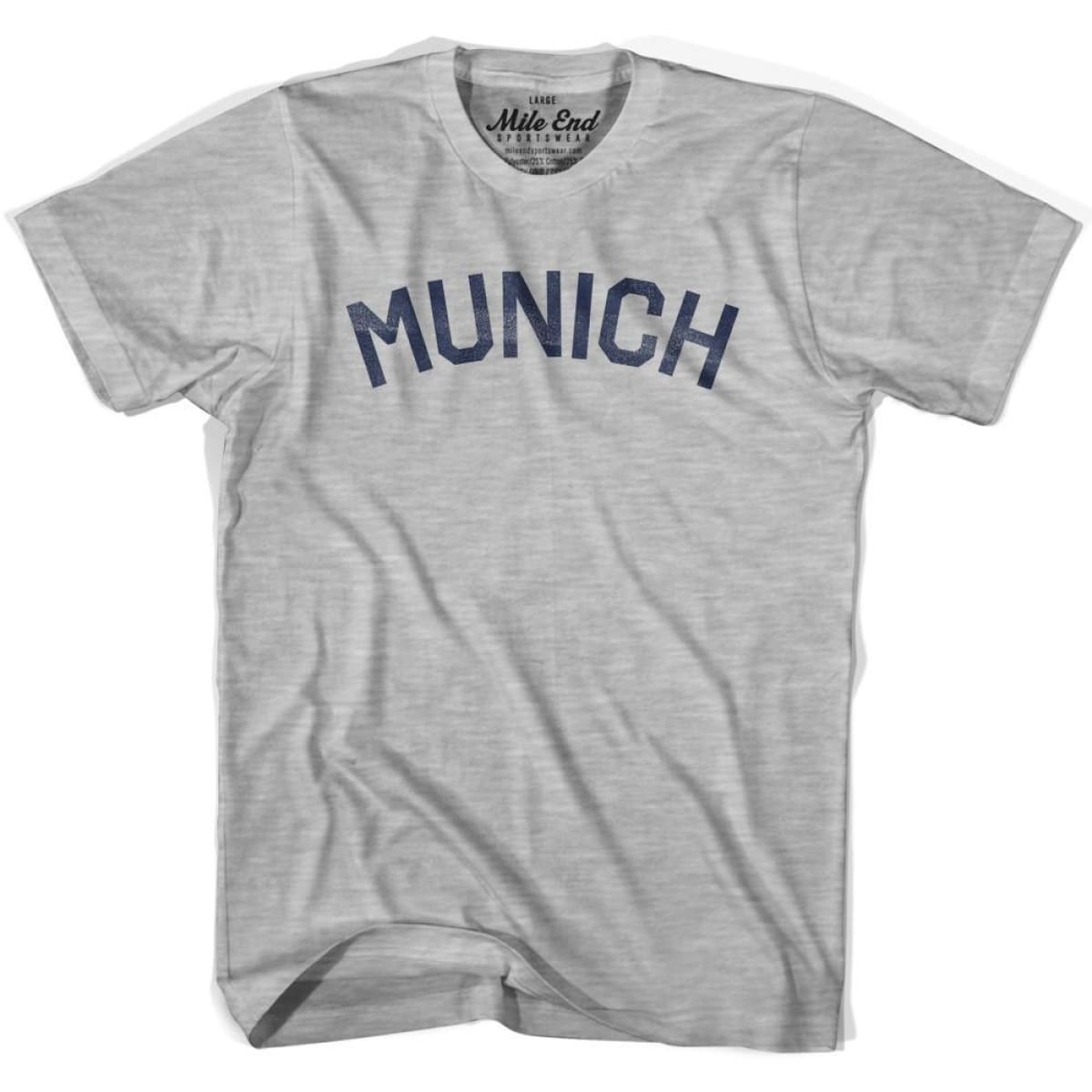 Munich City Vintage T-shirt - Grey Heather / Youth Small - Mile End City