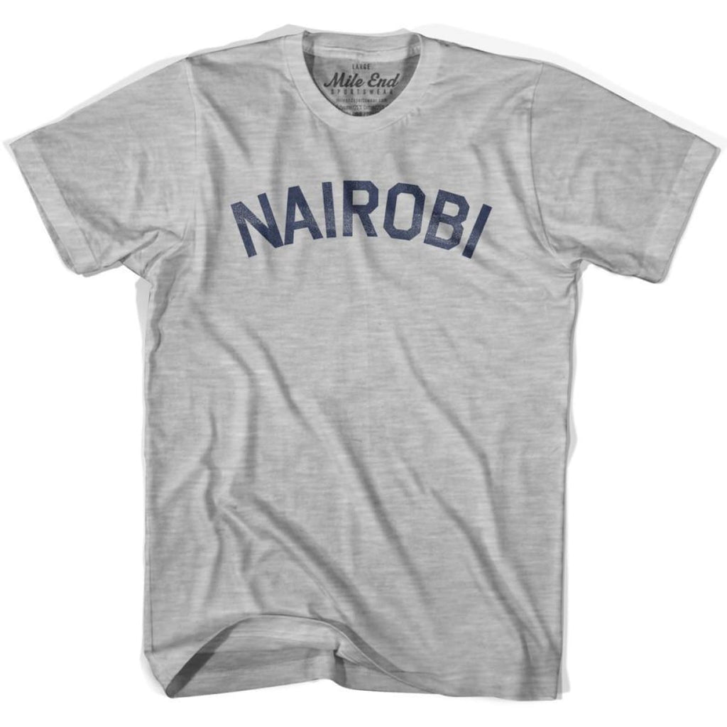 Nairobi City Vintage T-shirt - Grey Heather / Youth X-Small - Mile End City