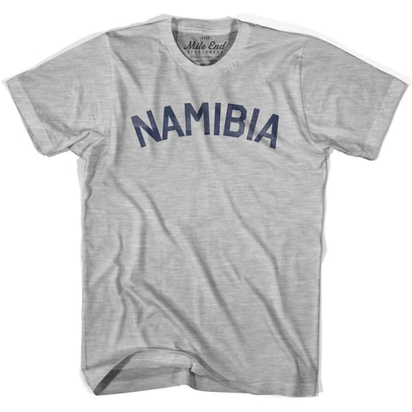 Namibia City Vintage T-shirt - Grey Heather / Youth X-Small - Mile End City