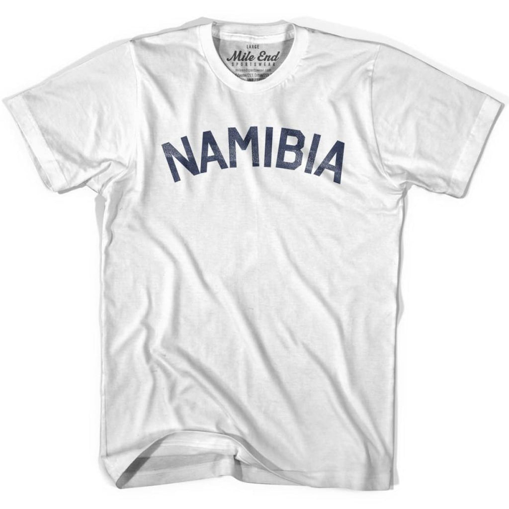 Namibia City Vintage T-shirt - White / Youth X-Small - Mile End City