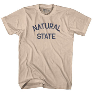 Arkansas Natural State Nickname Adult Cotton T-shirt by Ultras