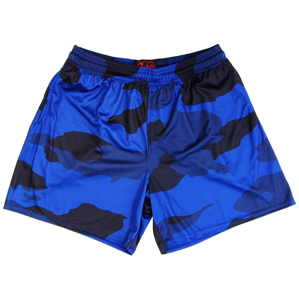 Navy Camo Rugby Shorts - Camo / Adult Small - Rugby Cut Training Shorts