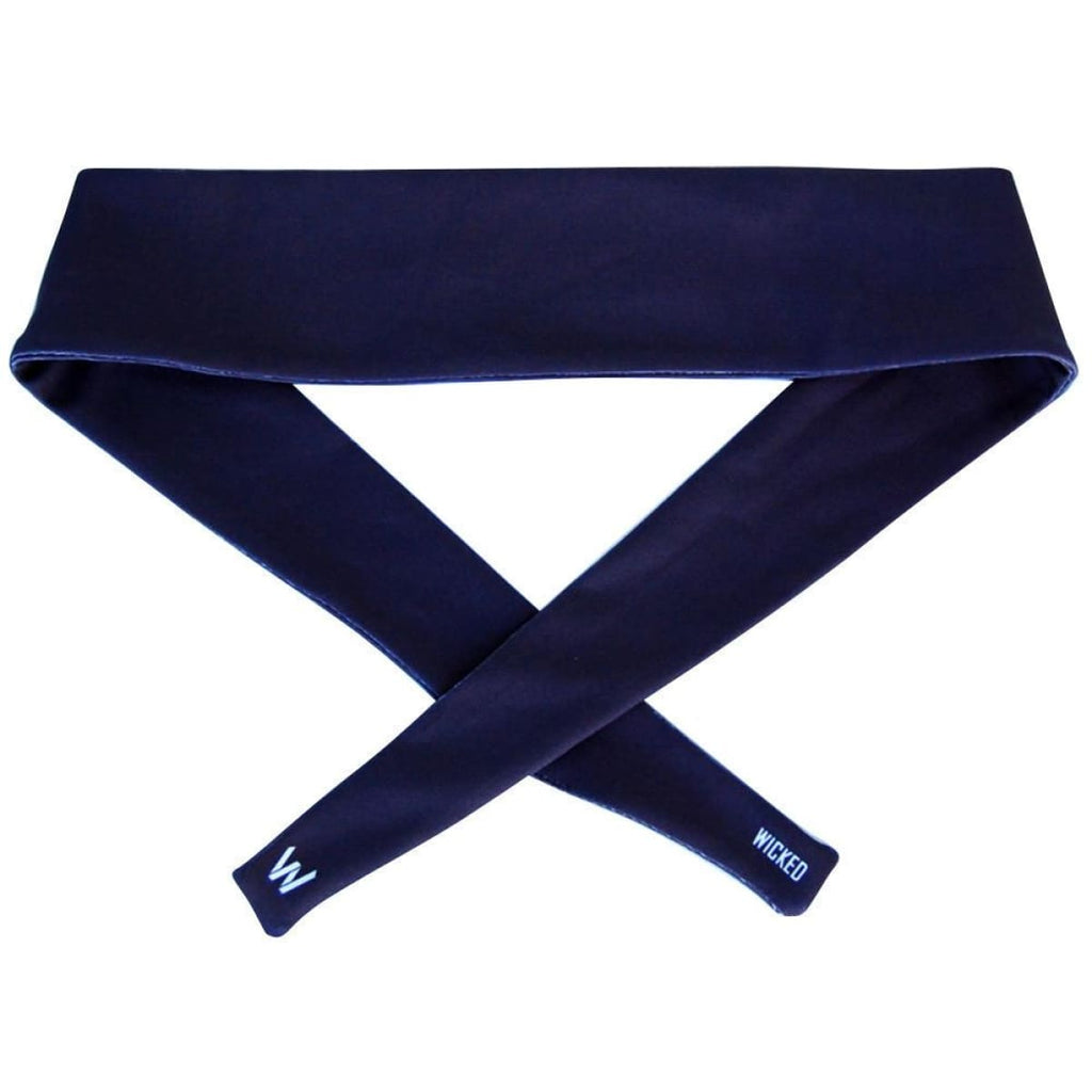 Navy Elastic Tie 2.25 Inch Headband - Wicked Headbands