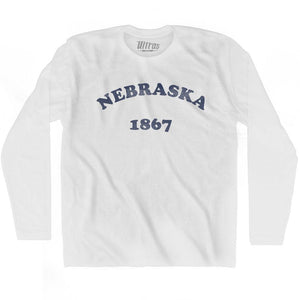 Ultras - Nebraska State 1867 Adult Cotton Long Sleeve Vintage T-shirt
