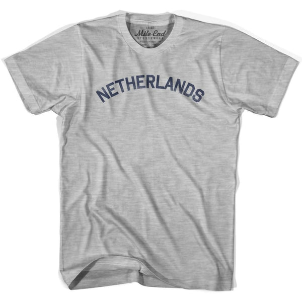 Netherlands City Vintage T-shirt - Grey Heather / Youth X-Small - Mile End City