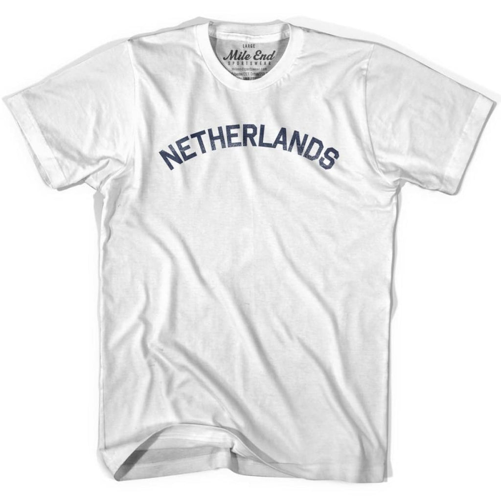 Netherlands City Vintage T-shirt - White / Youth X-Small - Mile End City