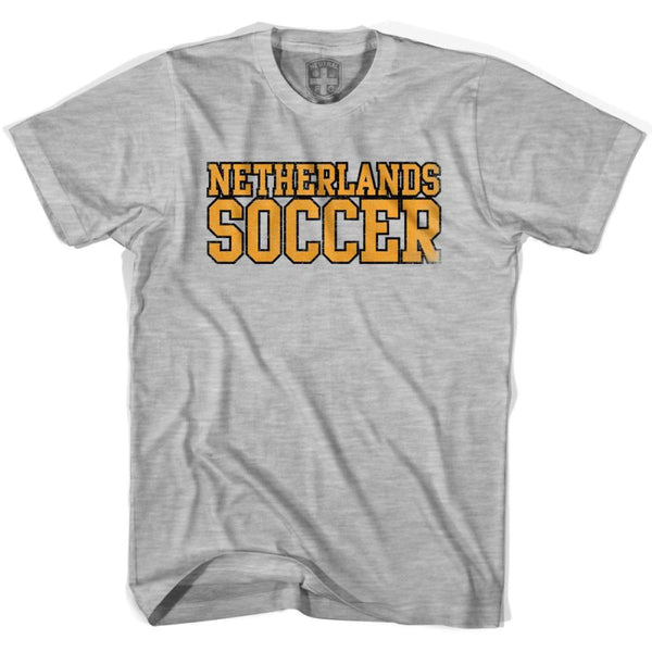 Netherlands Soccer Nations World Cup T-shirt - Grey Heather / Youth X-Small - Ultras Soccer T-shirts