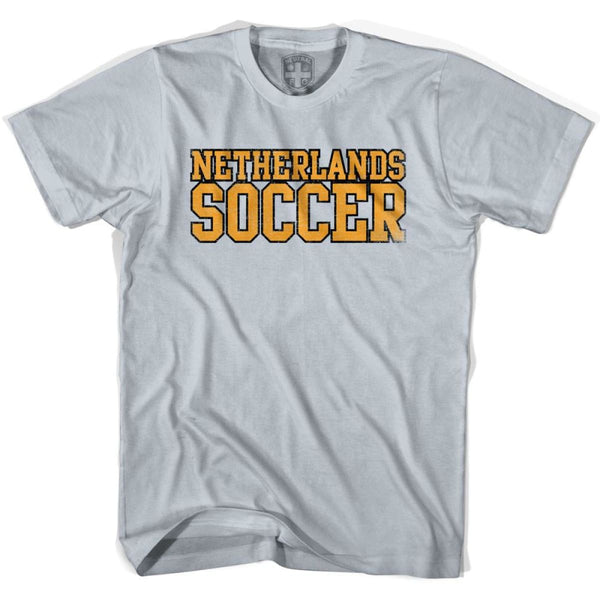 Netherlands Soccer Nations World Cup T-shirt - Silver / Youth X-Small - Ultras Soccer T-shirts