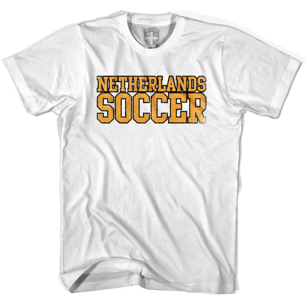 Netherlands Soccer Nations World Cup T-shirt - White / Youth X-Small - Ultras Soccer T-shirts