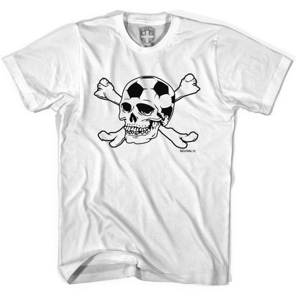 Neutral FC Skull T-shirt - White / Youth X-Small - Ultras Soccer T-shirts