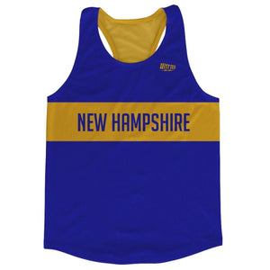 New Hampshire Finish Line Running Tank Top Racerback Track and Cross Country Singlet Jersey - Royal Blue / Adult X-Small - Running Top