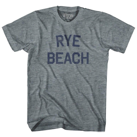 New Hampshire Rye Beach Womens Tri-Blend Junior Cut Vintage T-shirt by Ultras