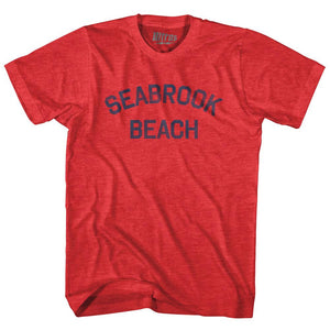 New Hampshire Seabrook Beach Adult Tri-Blend Vintage T-shirt by Ultras