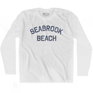 New Hampshire Seabrook Beach Adult Cotton Long Sleeve Vintage T-shirt by Ultras