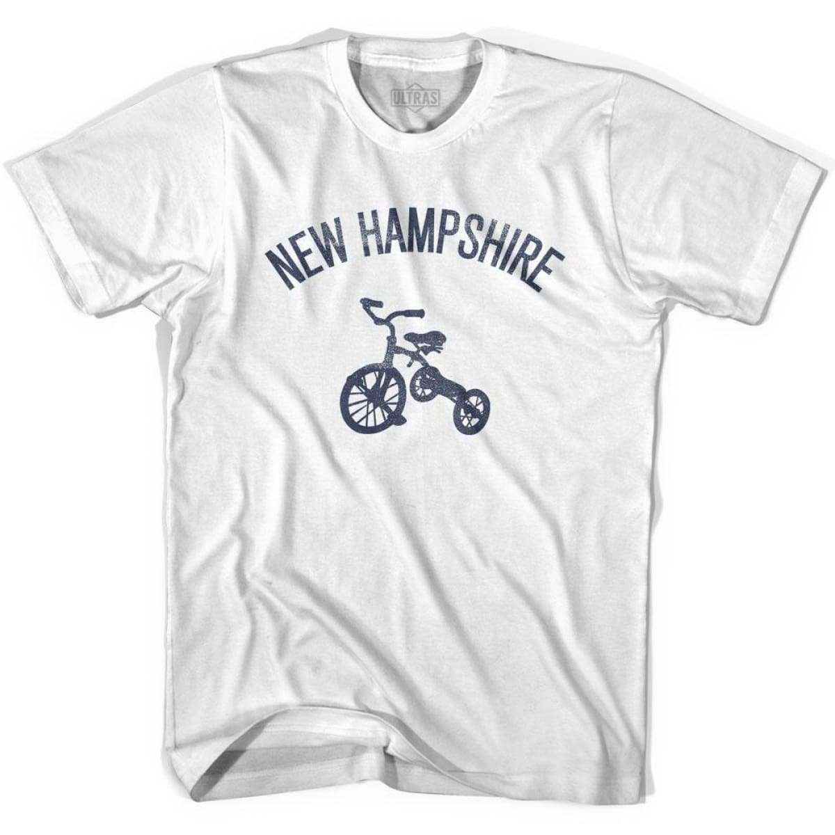 New Hampshire State Tricycle Womens Cotton T-shirt - White / Womens Small - Tricycle State