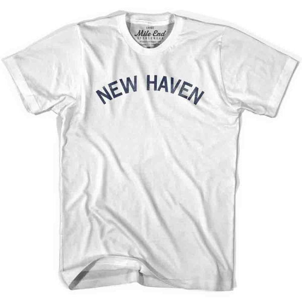 New Haven City Vintage T-shirt - White / Youth X-Small - Mile End City