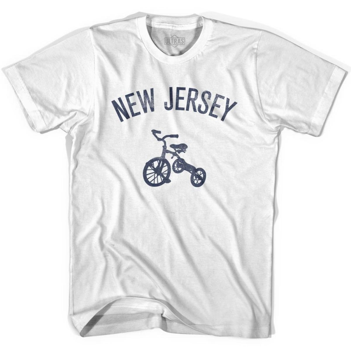 New Jersey State Tricycle Youth Cotton T-shirt - White / Youth X-Small - Tricycle State