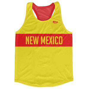 New Mexico Finish Line Running Tank Top Racerback Track and Cross Country Singlet Jersey - Yellow / Adult X-Small - Running Top