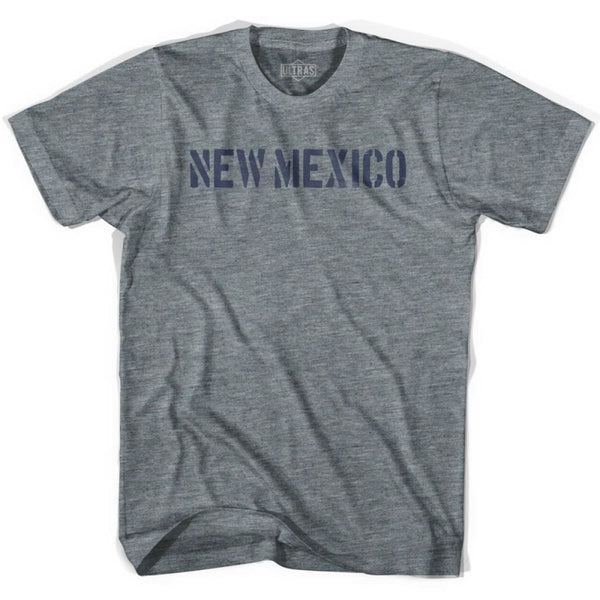New Mexico State Stencil Youth Tri-Blend T-shirt - Athletic Grey / Youth X-Small - Stencil State