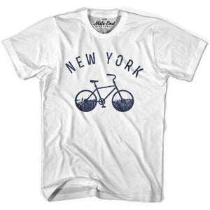 New York Bike T-shirt - White / Adult X-Small - Mile End City