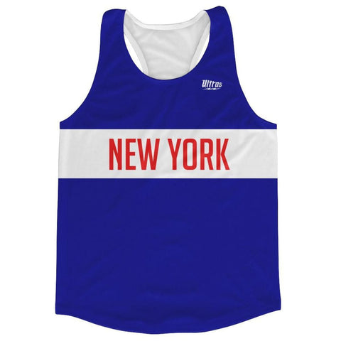 New York Finish Line Running Tank Top Racerback Track and Cross Country Singlet Jersey - Royal Blue / Adult X-Small - Running Top