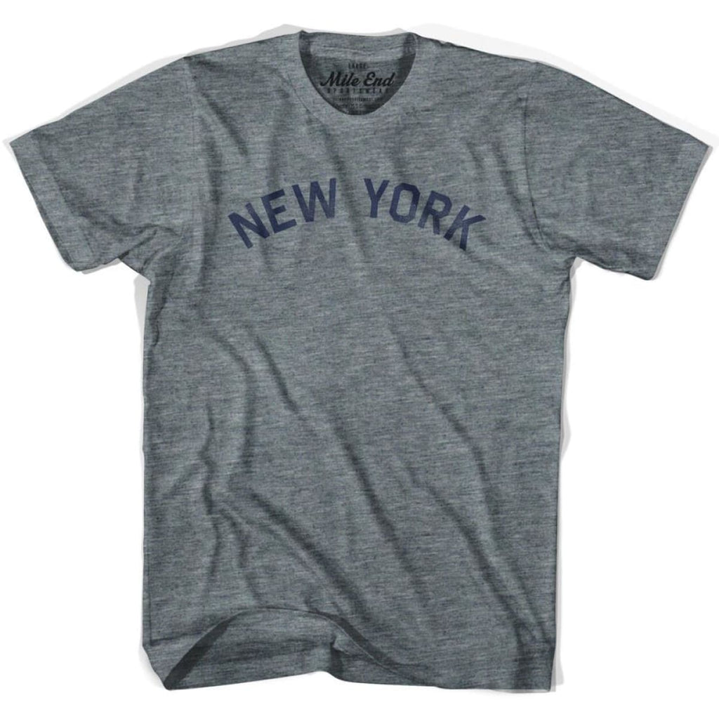 New York Union Vintage T-shirt - Athletic Blue / Adult X-Small - Mile End City