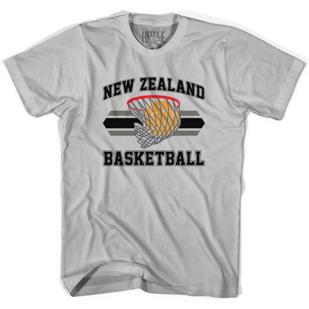 New Zealand 90s Basketball T-shirts - Silver / Youth X-Small - Basketball T-shirt