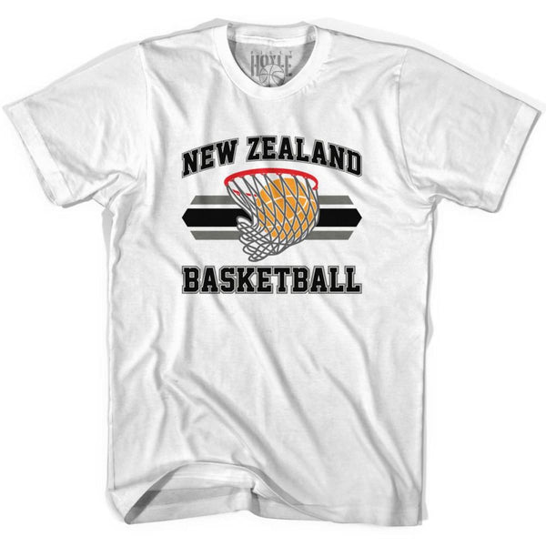 New Zealand 90s Basketball T-shirts - White / Youth X-Small - Basketball T-shirt