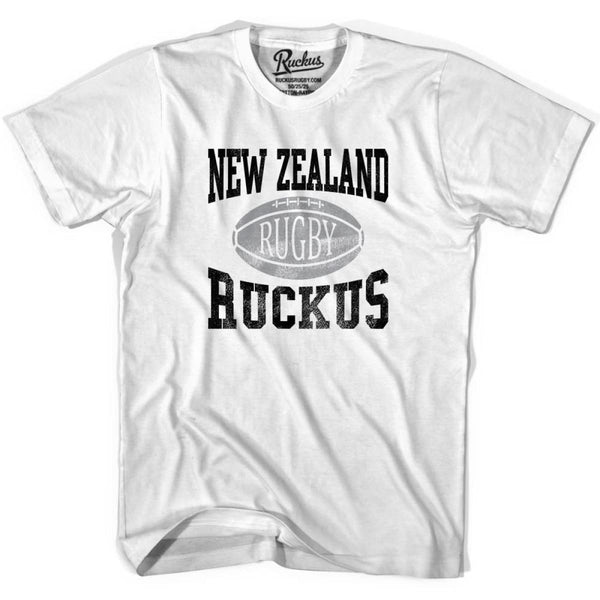 New Zealand Ruckus Rugby T-shirt - Cool Grey / Youth X-Small - Rugby T-shirt