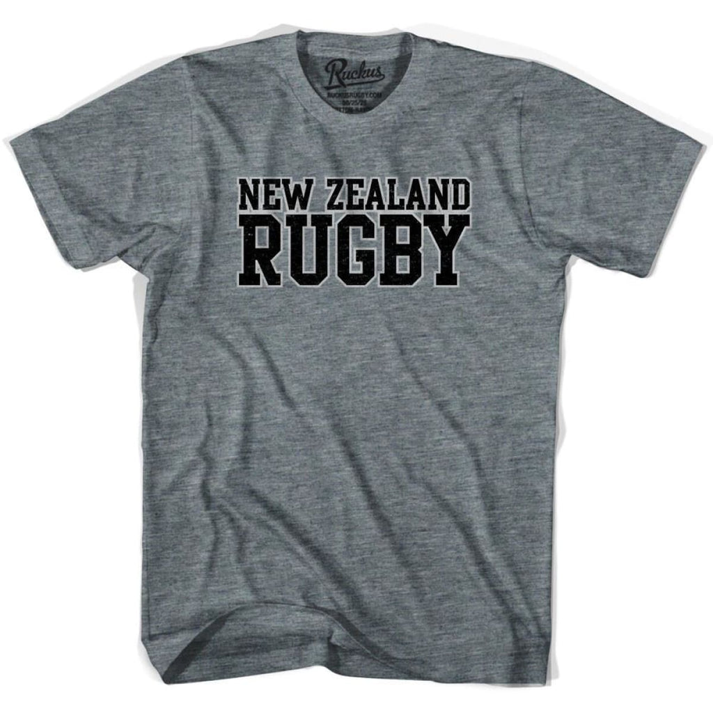 New Zealand Rugby Nations T-shirt - Athletic Grey / Adult Small - Rugby T-shirt