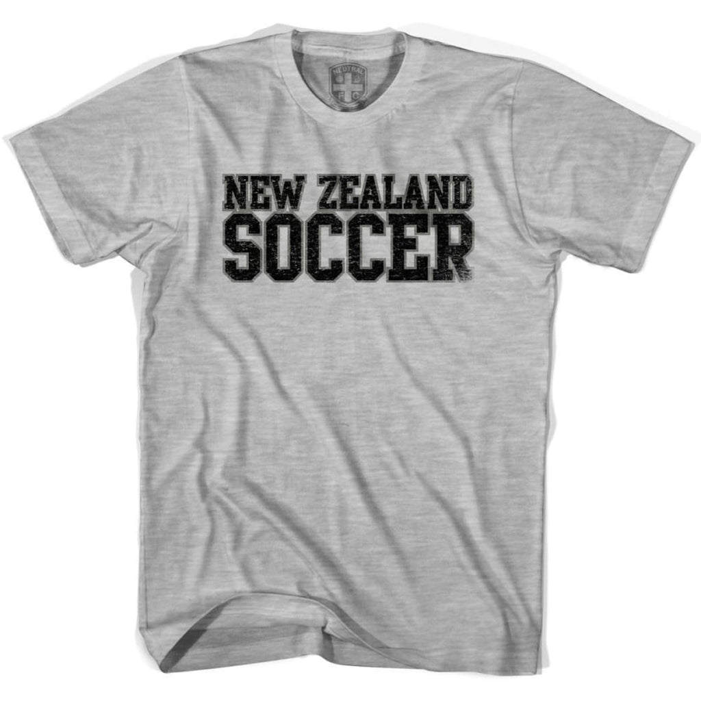 New Zealand Soccer Nations World Cup T-shirt - Grey Heather / Youth X-Small - Ultras Soccer T-shirts