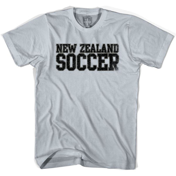 New Zealand Soccer Nations World Cup T-shirt - Silver / Youth X-Small - Ultras Soccer T-shirts