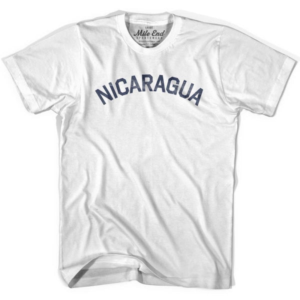 Nicaragua City Vintage T-shirt - White / Youth X-Small - Mile End City