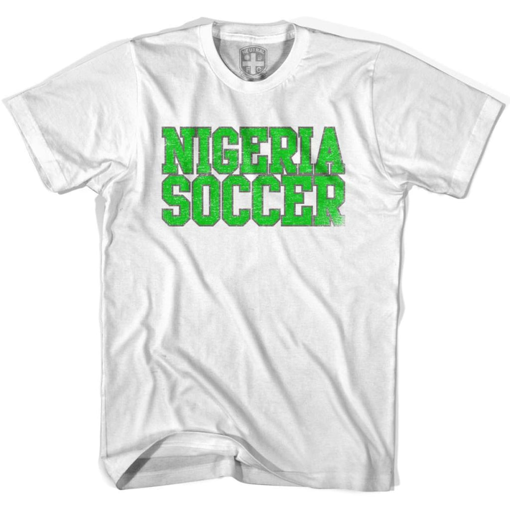Nigeria Soccer Nations World Cup T-shirt - White / Youth X-Small - Ultras Soccer T-shirts