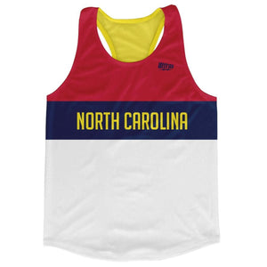 North Carolina Finish Line Running Tank Top Racerback Track and Cross Country Singlet Jersey - Blue White Red / Adult X-Small - Running Top