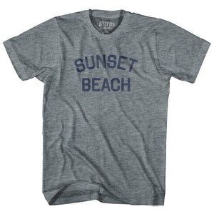 North Carolina Sunset Beach Adult Tri-Blend Vintage T-shirt by Ultras