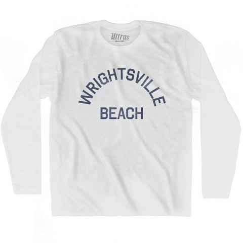 North Carolina Wrightsville Beach Adult Cotton Long Sleeve Vintage T-shirt by Ultras