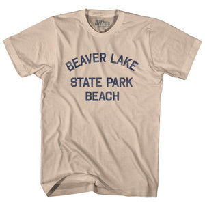 North Dakota Beaver Lake State Park beach Adult Cotton Vintage T-shirt by Ultras