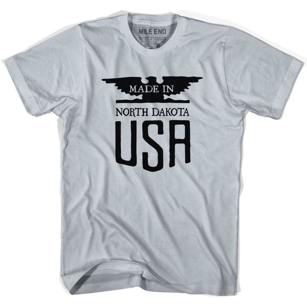 North Dakota Vintage Eagle T-shirt - Cool Grey / Youth X-Small - Made in Eagle