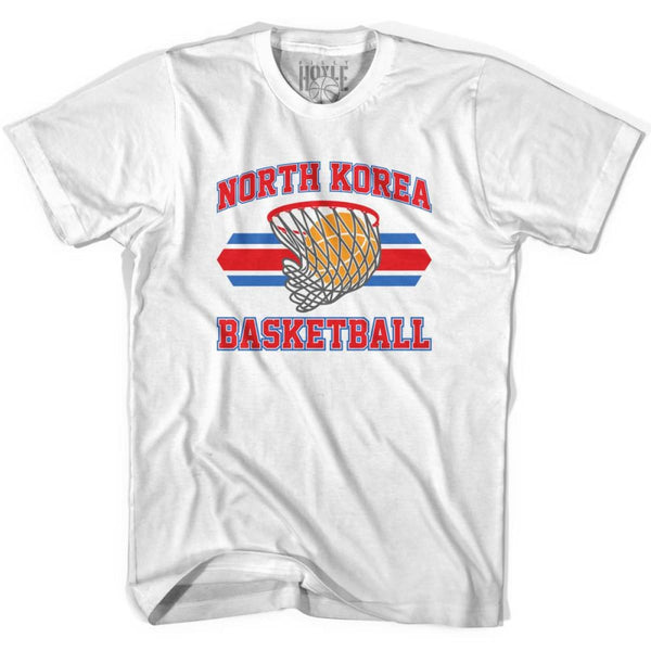 North Korea 90s Basketball T-shirts - White / Youth X-Small - Basketball T-shirt