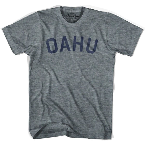 Oahu City Vintage T-shirt - Athletic Grey / Adult X-Small - Mile End City