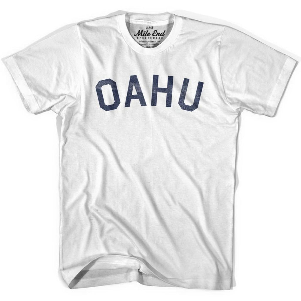 Oahu City Vintage T-shirt - Grey Heather / Youth Small - Mile End City