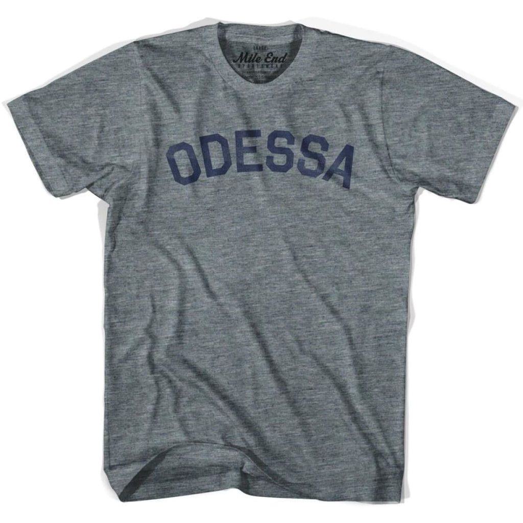 Odessa City Vintage T-shirt - Athletic Grey / Adult X-Small - Mile End City
