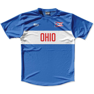 Ultras Ohio Flag Finish Line Running Cross Country Track Shirt Made In USA