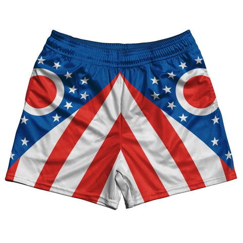 Ohio State Flag Rugby Shorts Made In USA by Ruckus