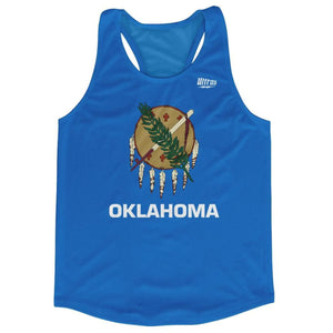 Oklahoma State Flag Running Tank Top Racerback Track and Cross Country Singlet Jersey - Sky Blue / Adult X-Small - Running Top