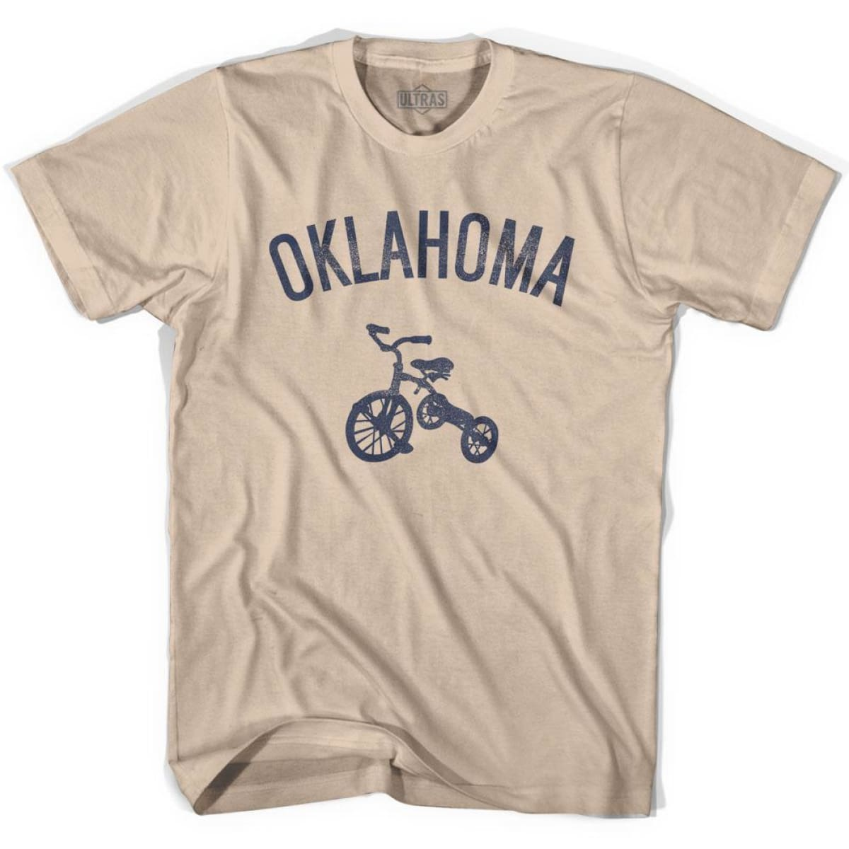 Oklahoma State Tricycle Adult Cotton T-shirt - Creme / Adult Small - Tricycle State