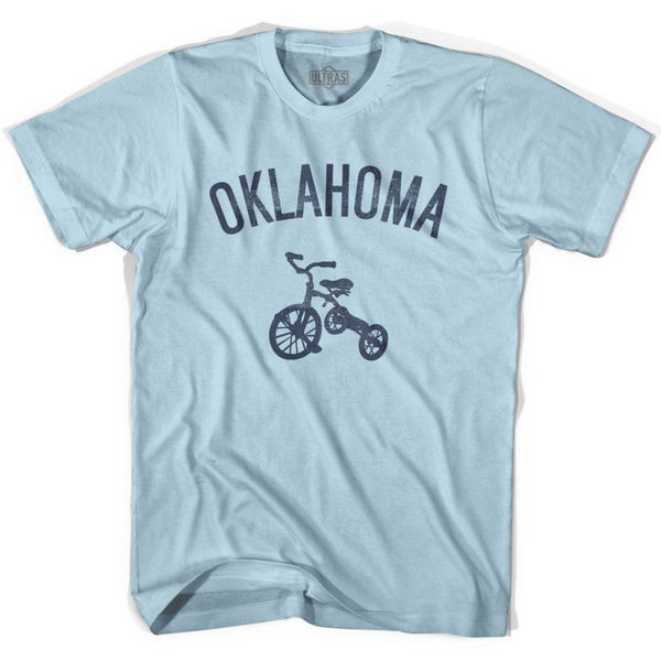 Oklahoma State Tricycle Adult Cotton T-shirt - Light Blue / Adult Small - Tricycle State