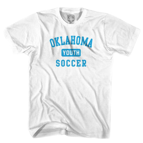 Oklahoma Youth Soccer T-shirt - White / Youth X-Small - Ultras Soccer T-shirts